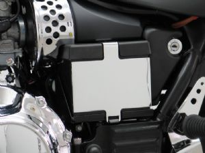 SPEEDMASTER & AMERICA Decorative Chrome Cover Battery Case, Left.